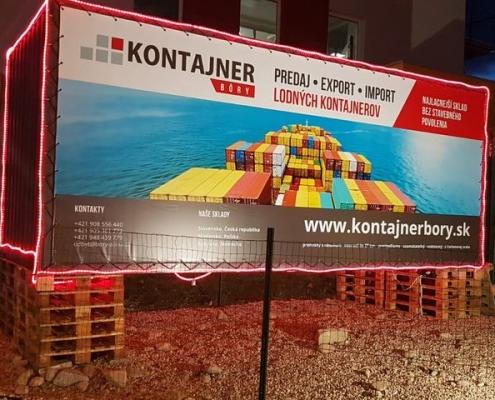 Reklama na lodnom kontajneri i s osvetlením